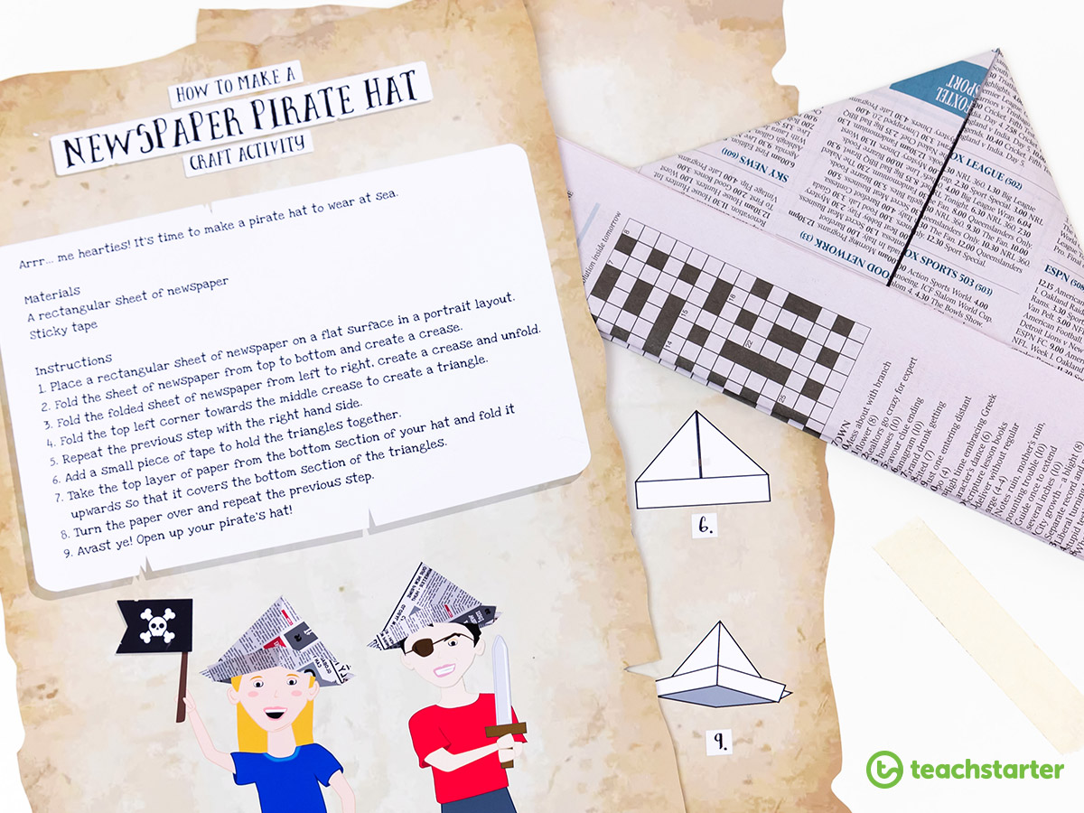 Pirate Party Store Blog: How to make a Pirate Hat from newspaper | 900x1200