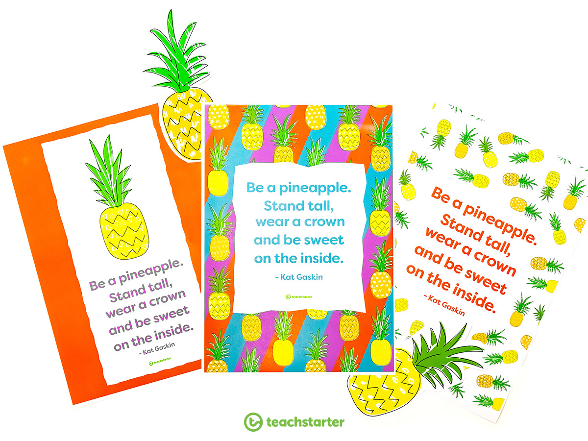 Pineapple Positivity Poster
