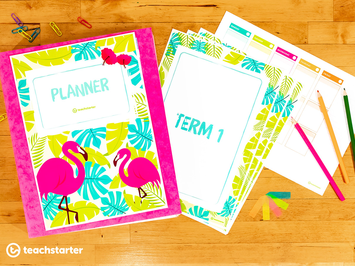 Tropical Paradse Printable Diary Template