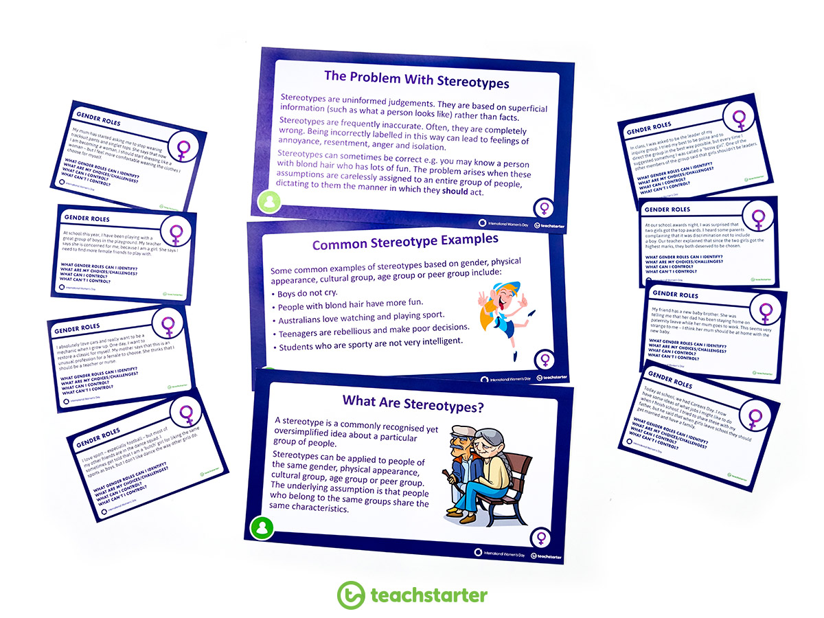 Examining Female Gender Stereotypes Activity Cards