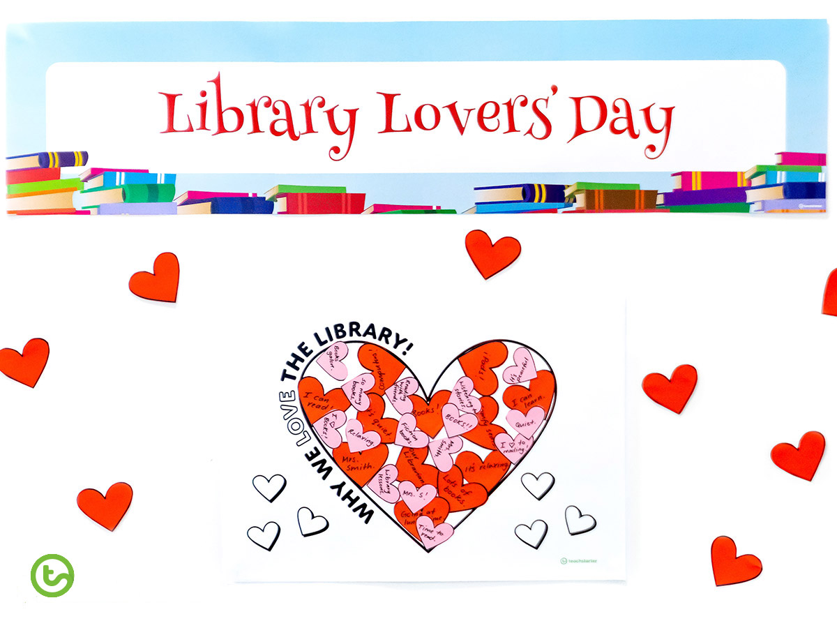 Library Lovers Day - Valentine's Day activities