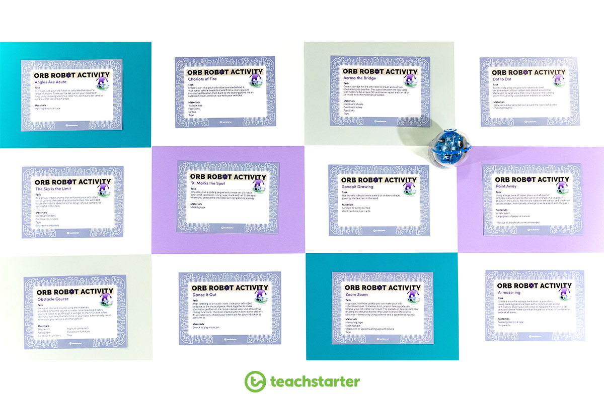 Orb Robot Task Cards Sphero Coding Challenge Student Primary Teaching Resource
