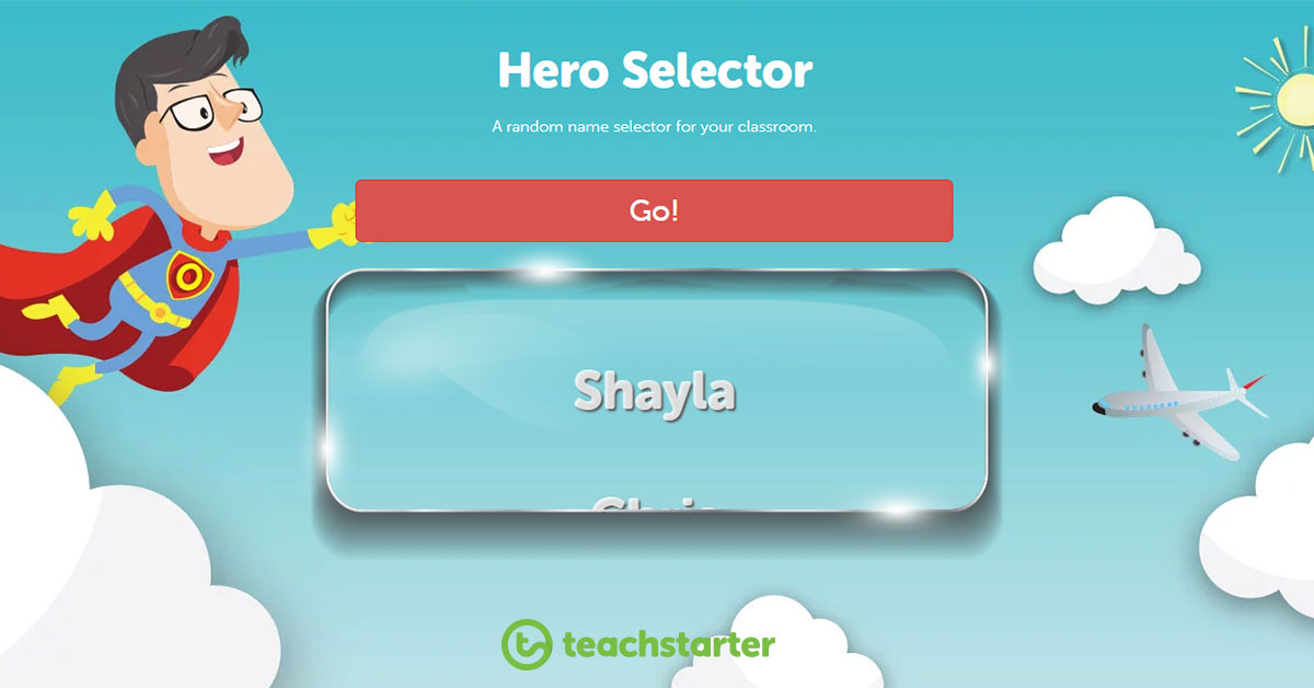 random name selector - hero selector