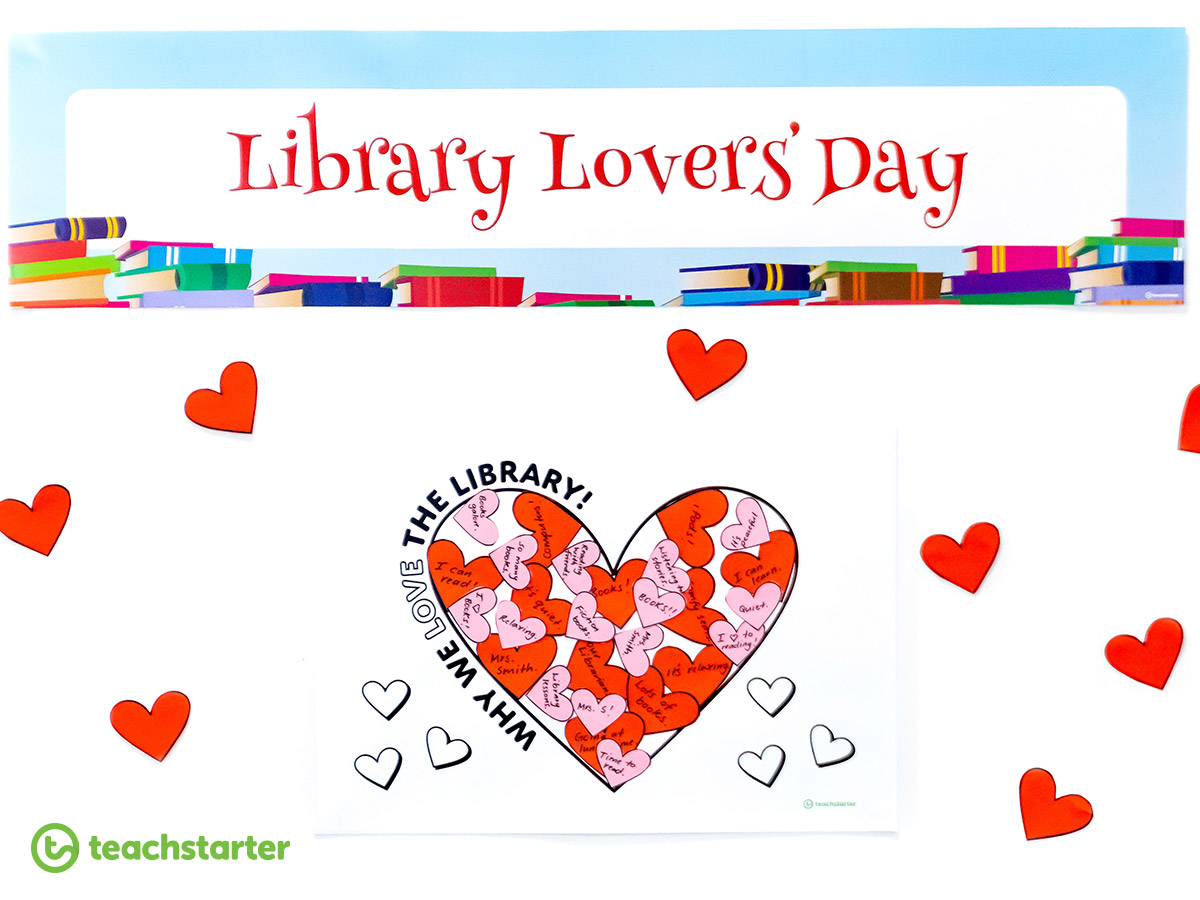 Valentine's Day Activities - Library Lovers' Day