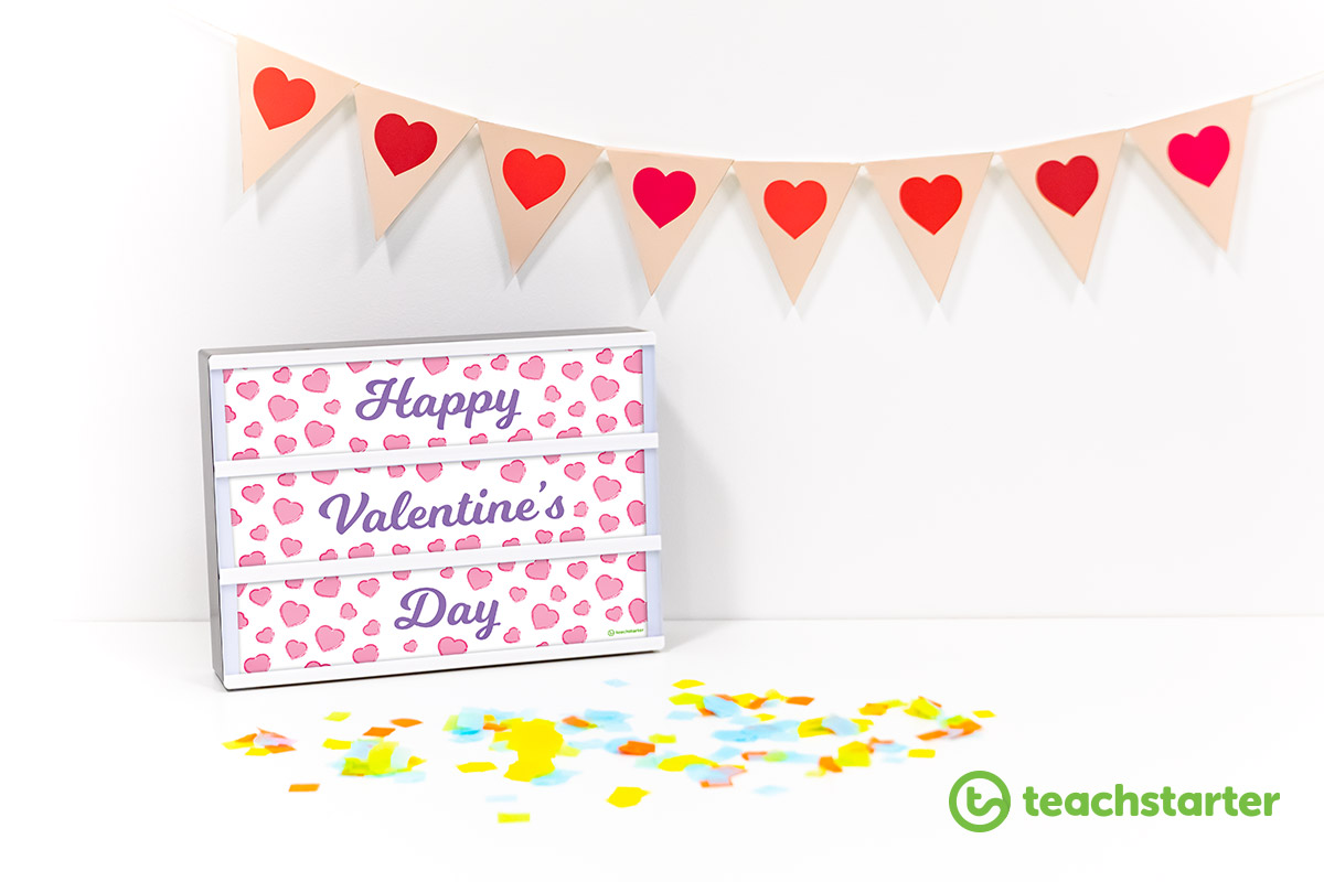 Valentine's Day Classroom Activities - Light Box