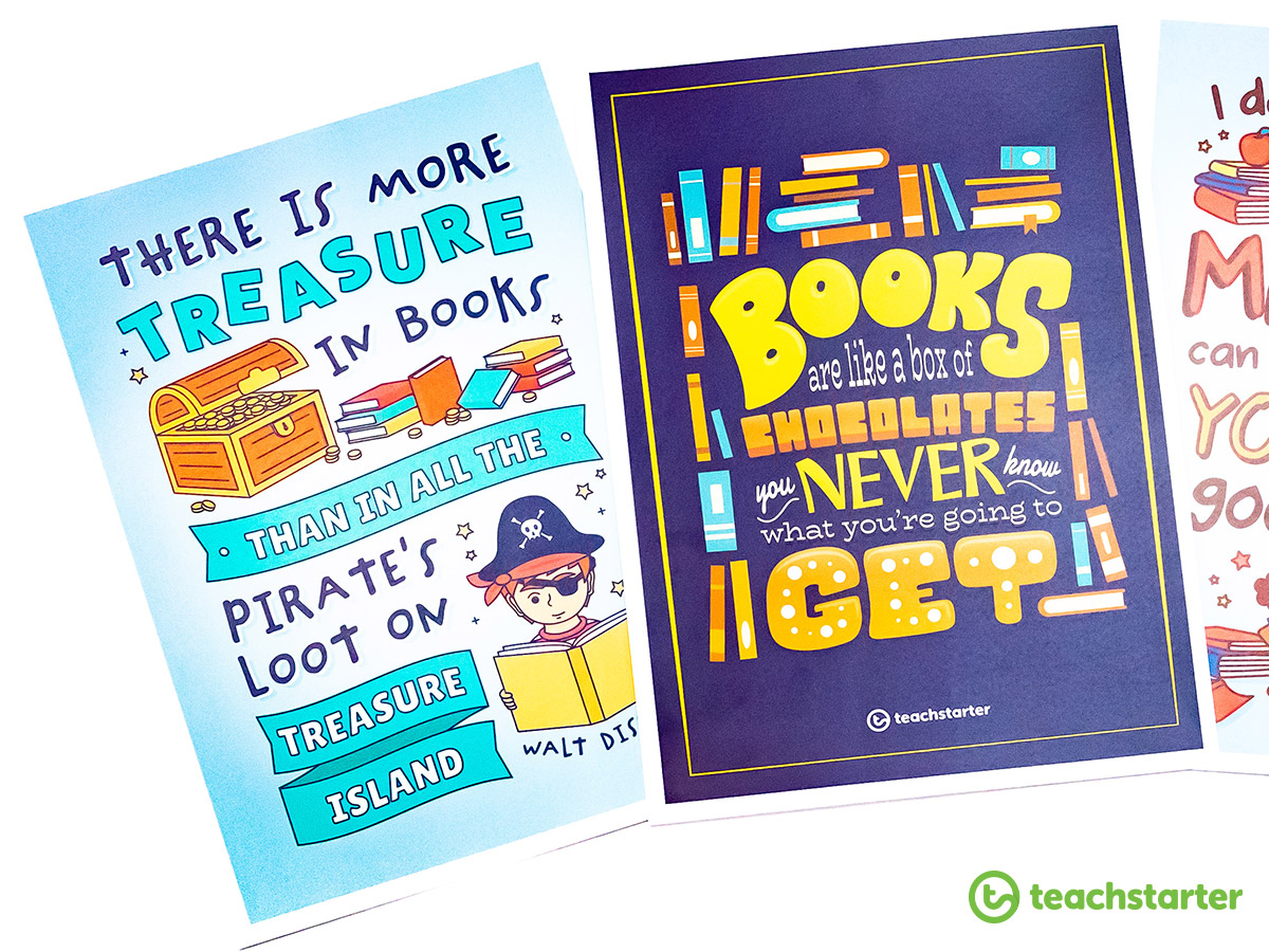 Qutoe Posters for Library Lovers' Day