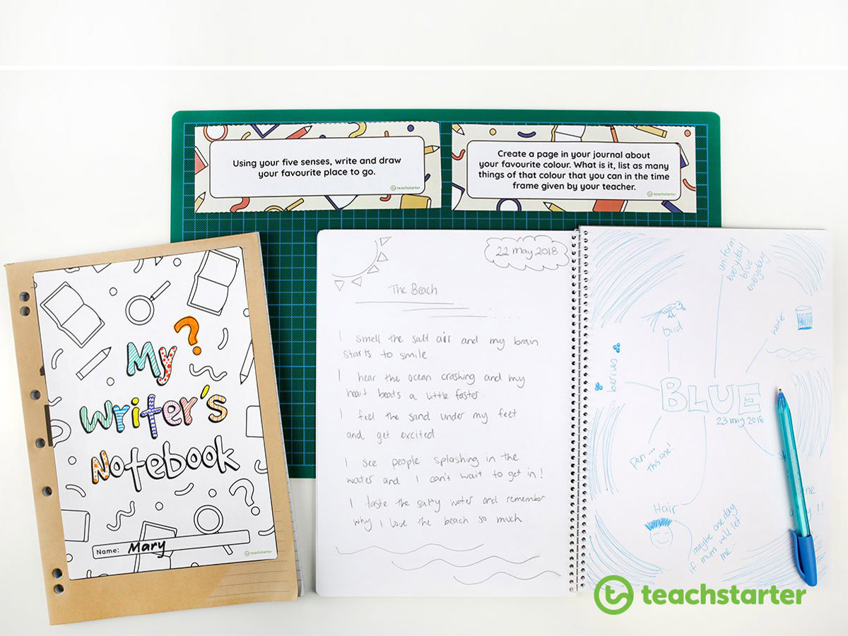 Writer's Notebook Writing Prompt Cards