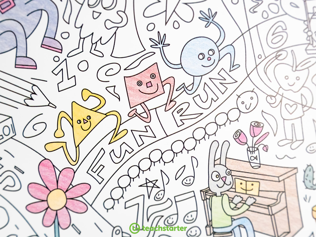 Colouring In Sheet - Close Up