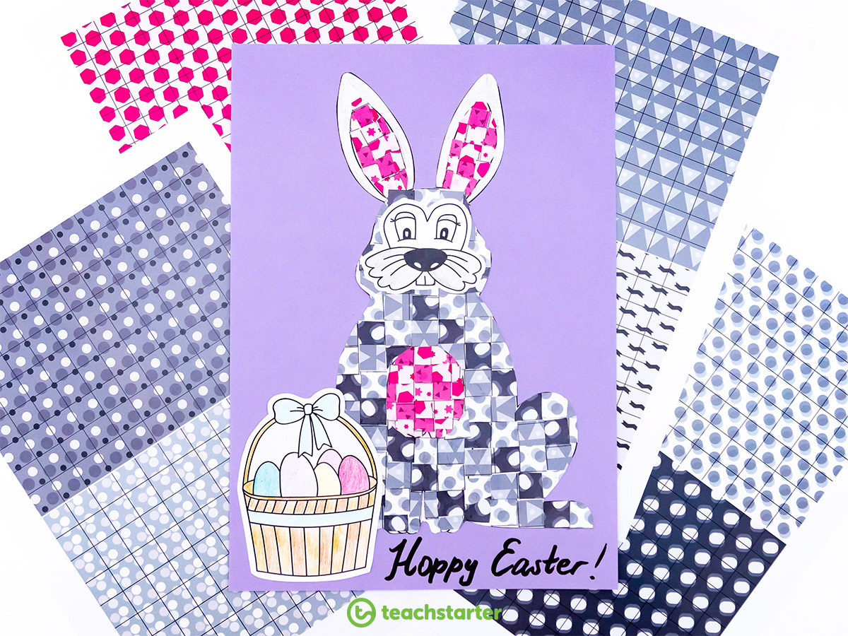 Mosaic Easter Craft Activities - Bunny
