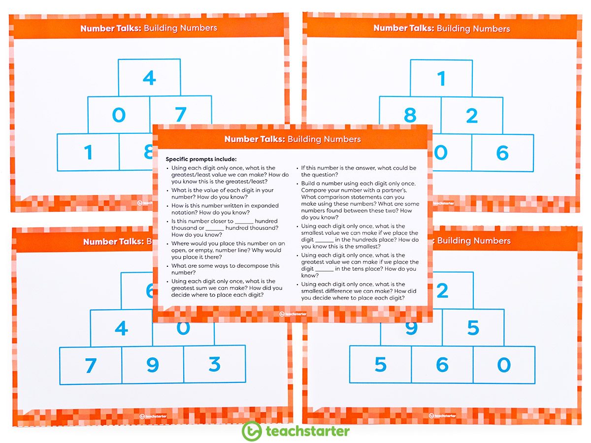 Place Value Activities - Build Numbers