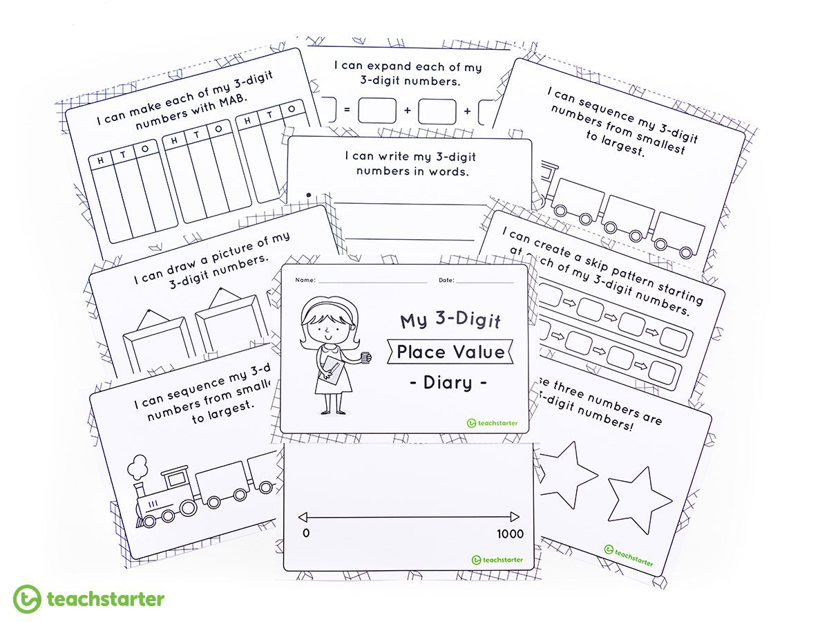 Place Value Activities - 3-Digit Place Value Diary