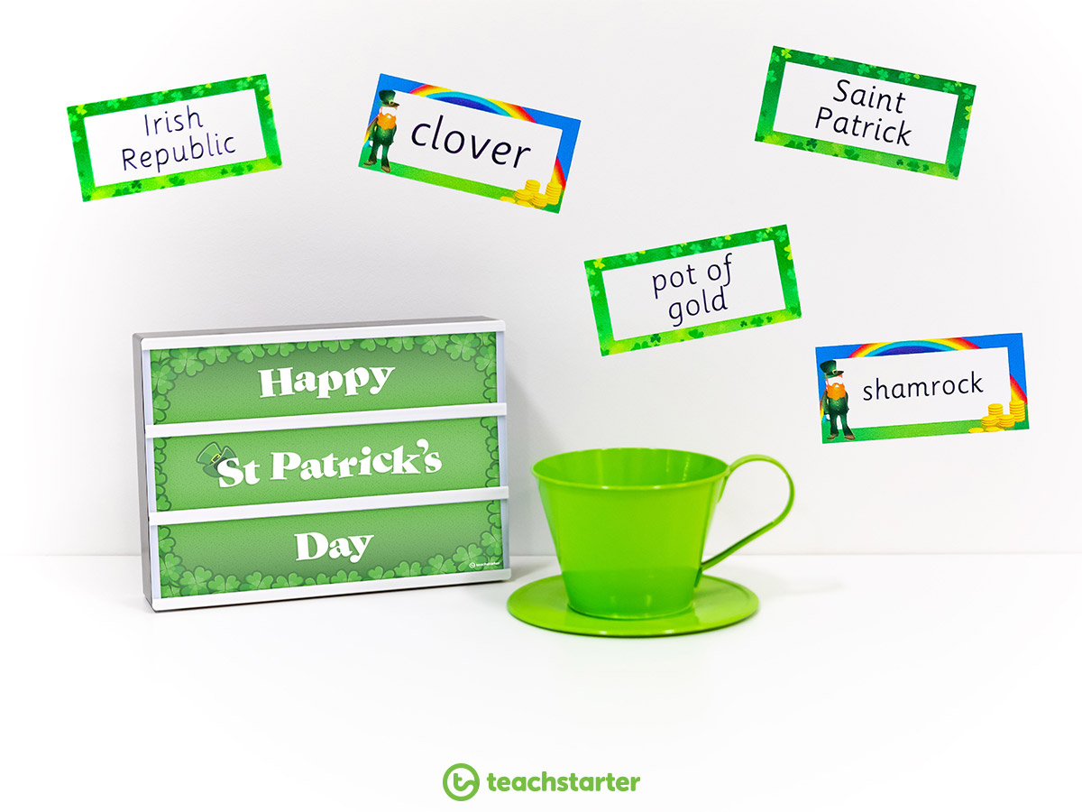 St Patrick's Day Activities - Light Box