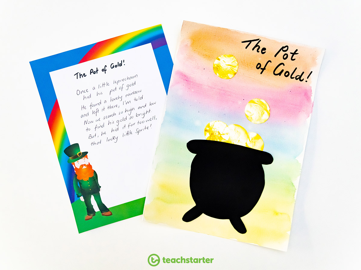 St Patrick's Day Activities - Pot of Gold Poetry