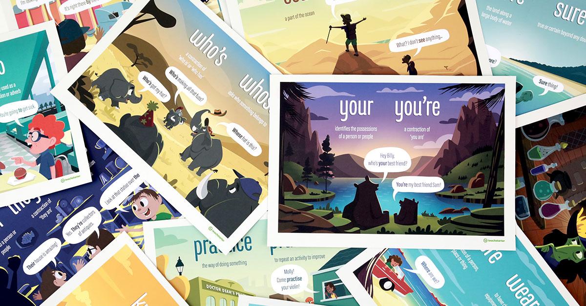 Homophones Poster Pack
