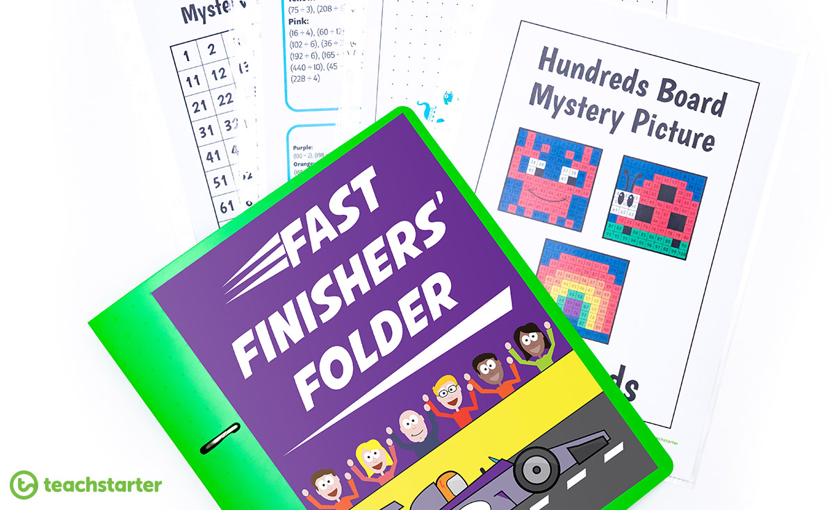 Fast finisher activity folder