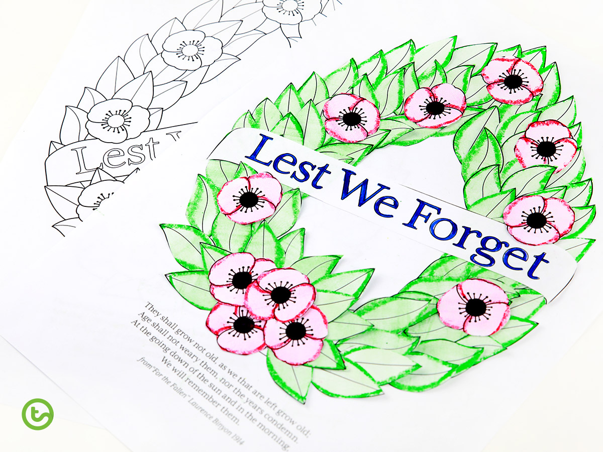 Anzac Day Activities - Lest We Forget