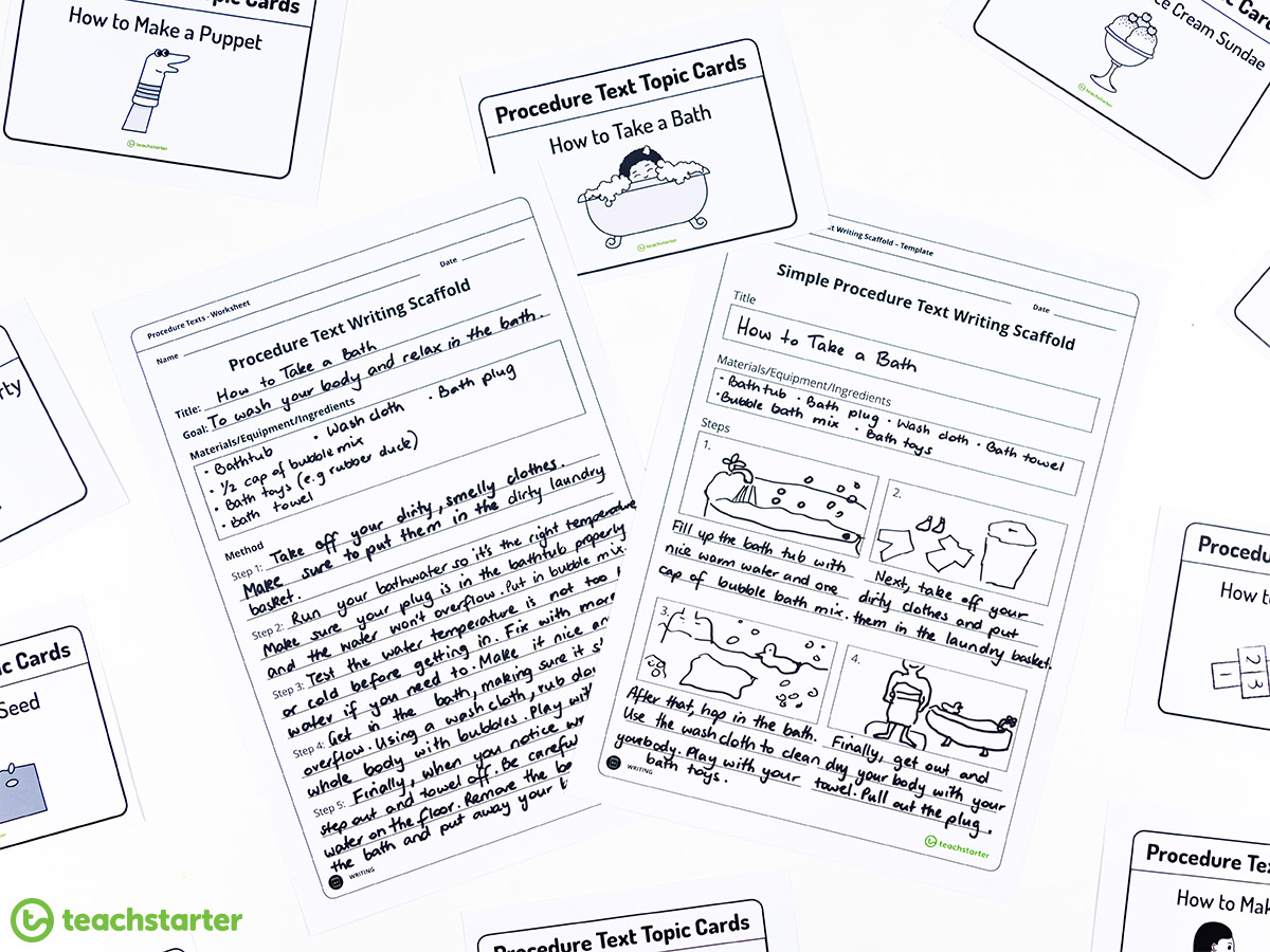 Early Years Procedure Writing Activities!