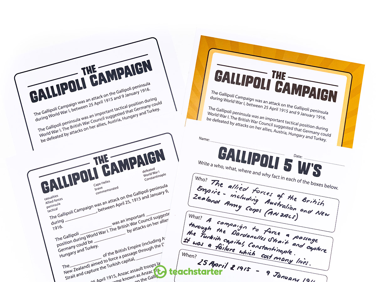 Anzac Day Activities - The Gallipoli Campaign