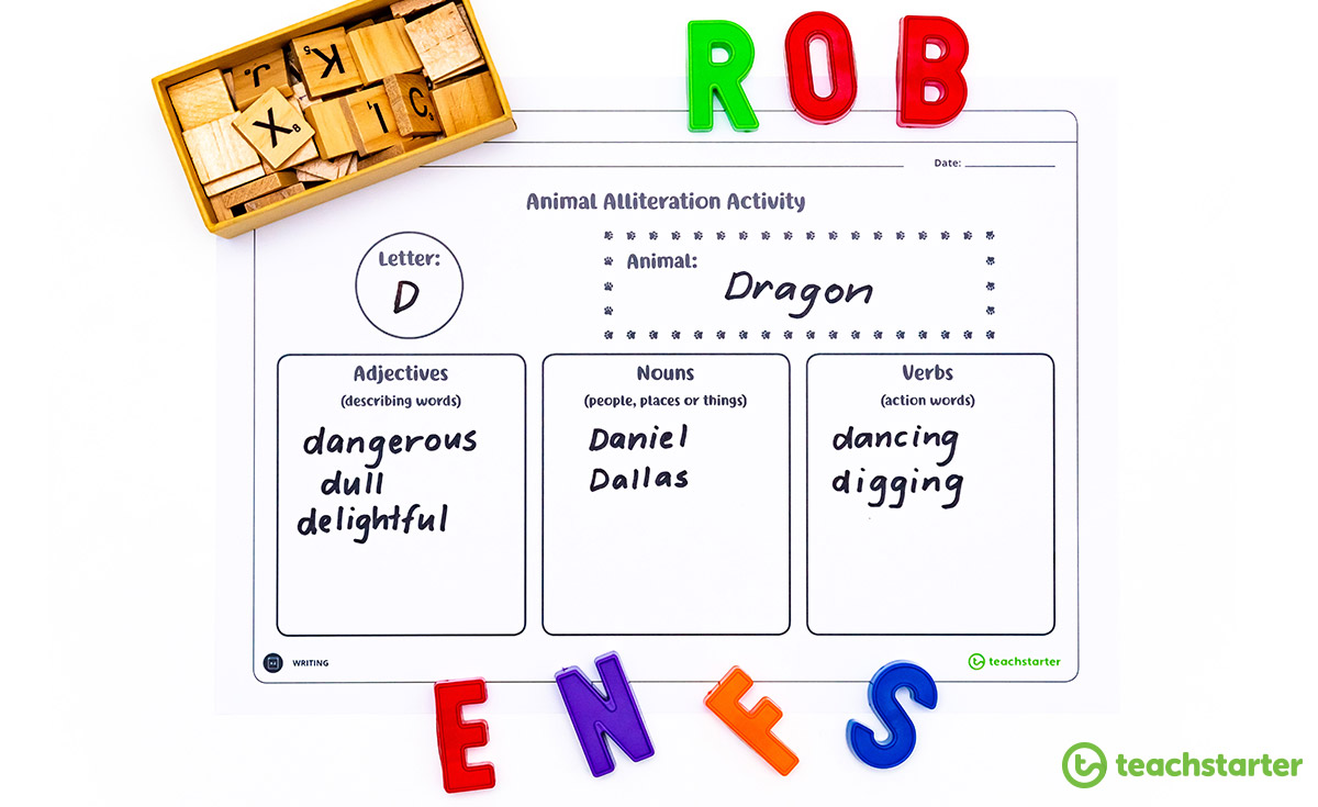 Animal Alliteration Activity