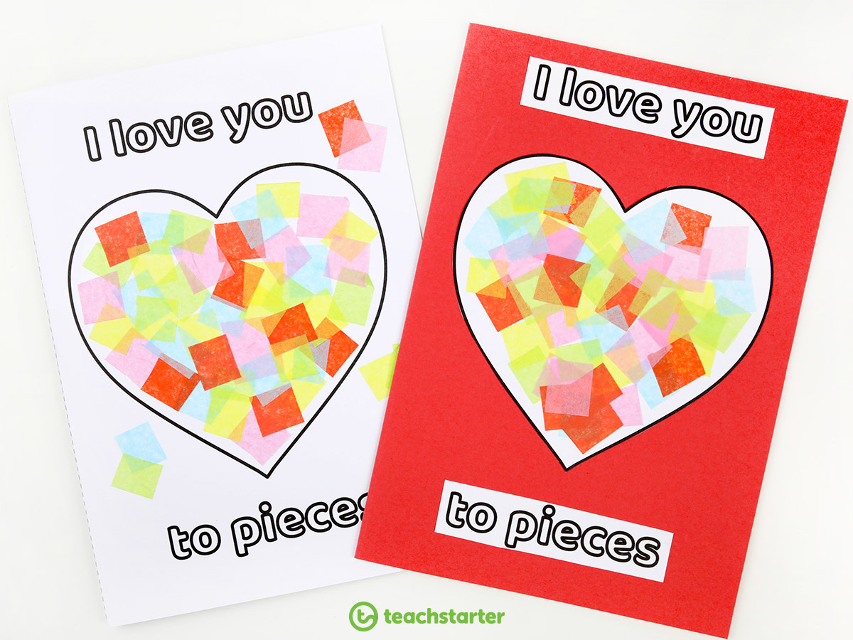 I Love You To Pieaces Card Template