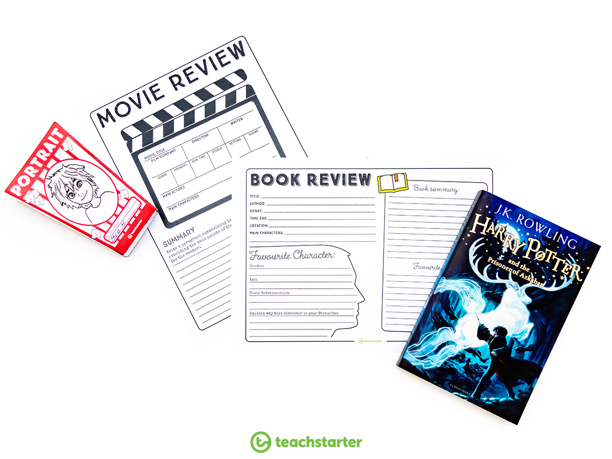 Travel Journal movie and book review pages
