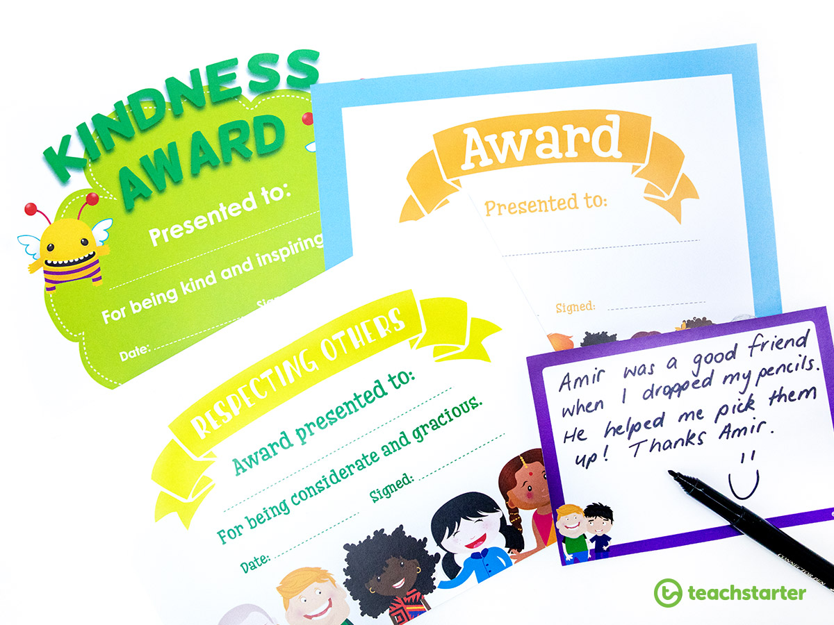 Teaching Friendship to Banish Bullying - Give out friendship awards