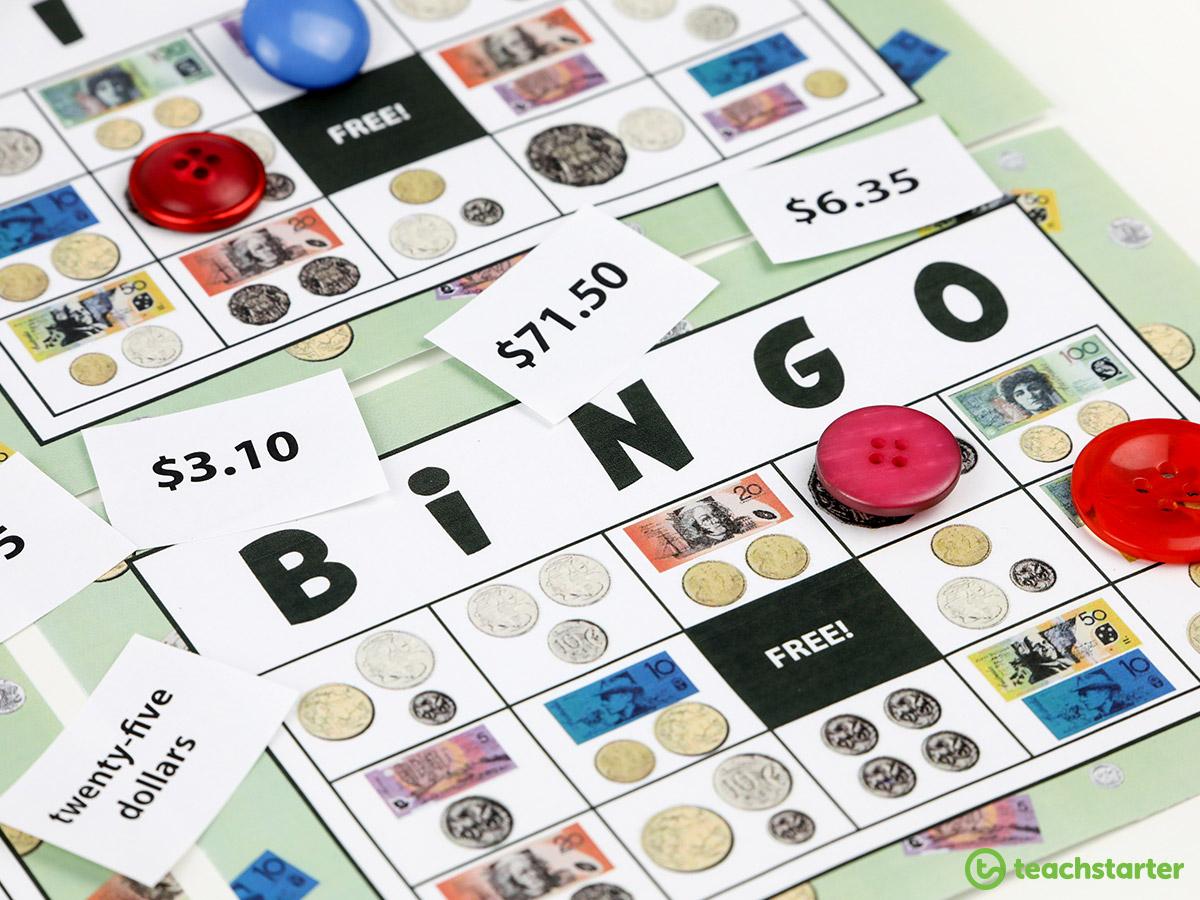 Money and Financial Mathematics - Money Bingo Games