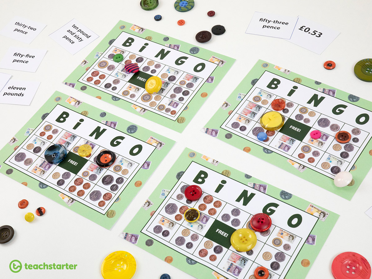 Teaching Money and Financial Mathematics - play a math game with your students