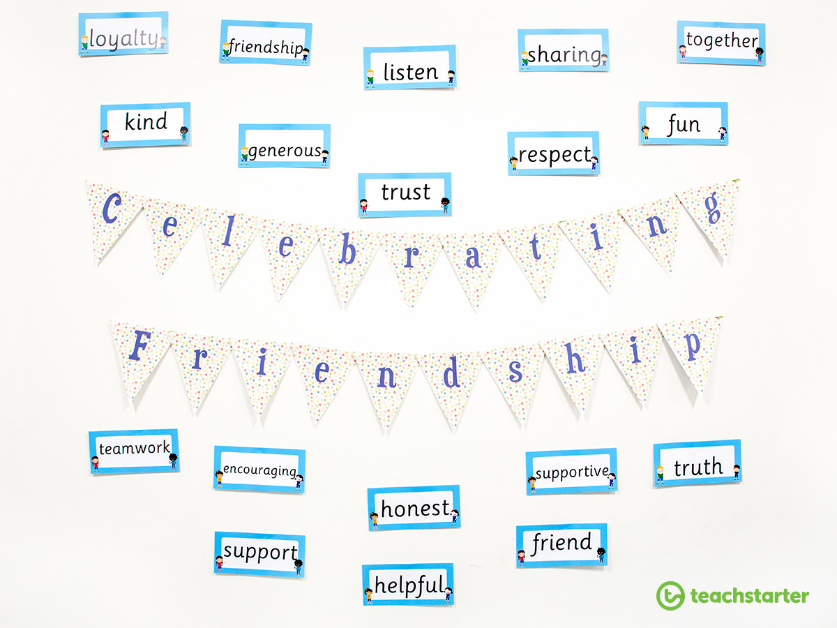 Teaching Friendship to Banish Bullying - Put Up a Friendship Wall Display!