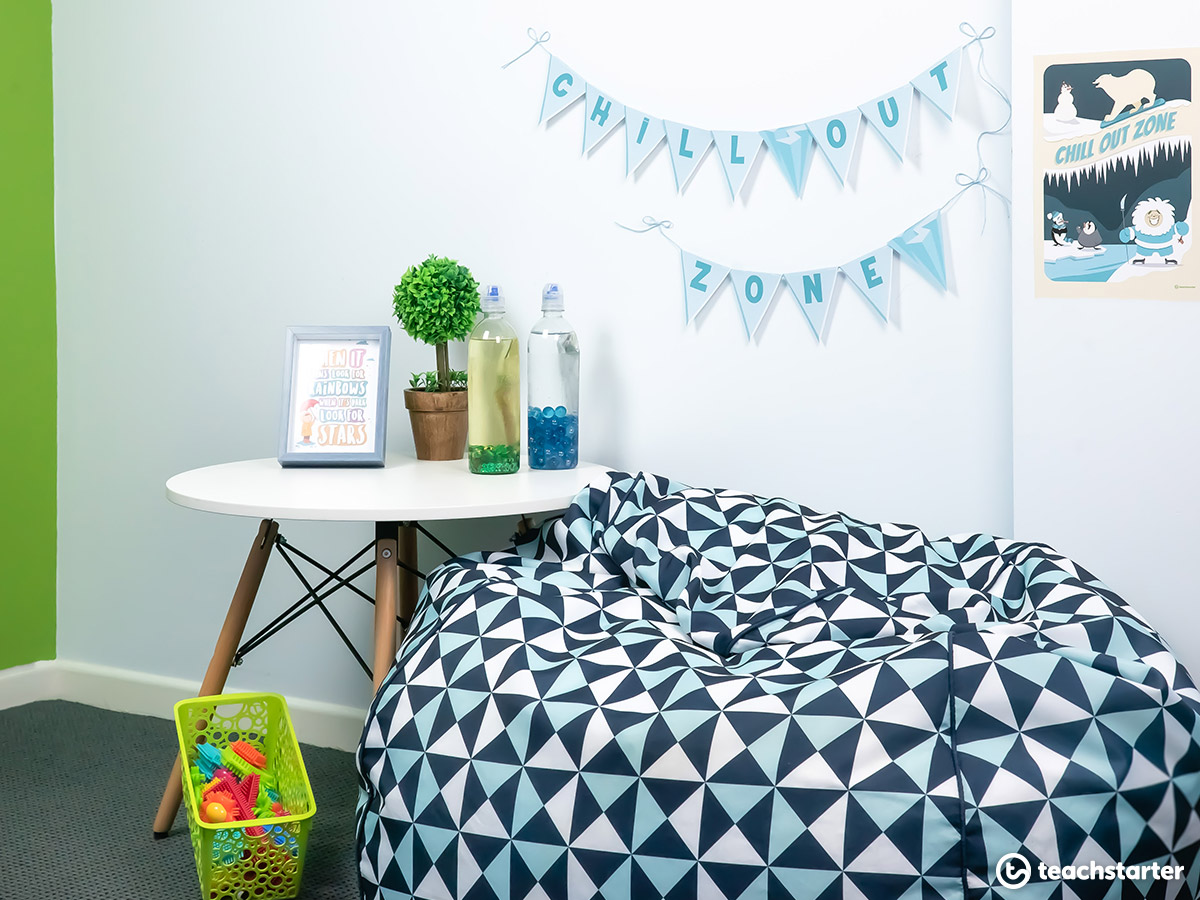 Create a chill out haven for perfectionist students.