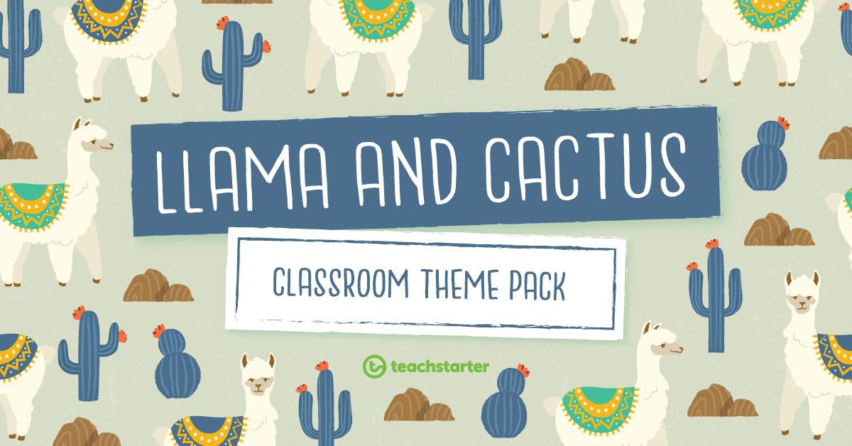 Classroom Theme Pack - Llama and Cactus