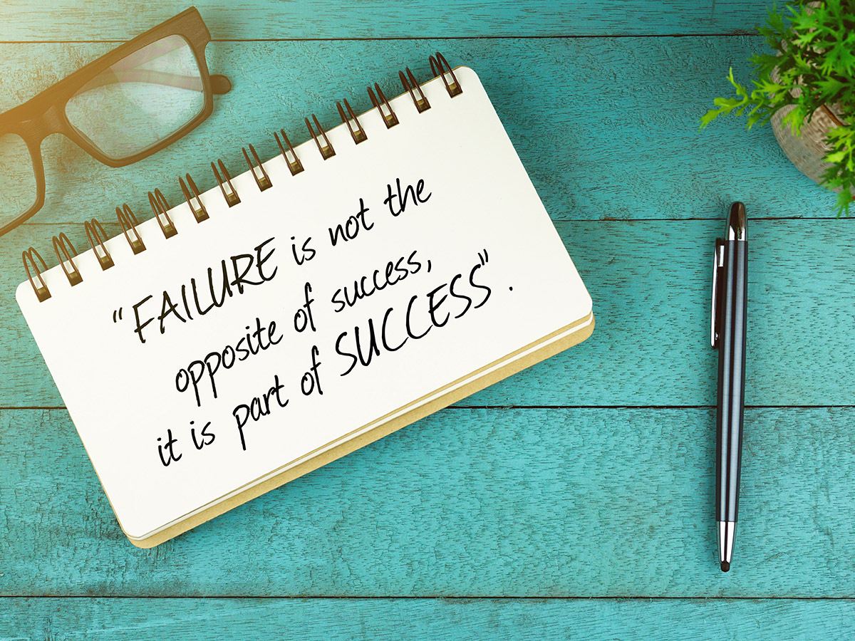 Remind perfectionist students that failure is part of success.