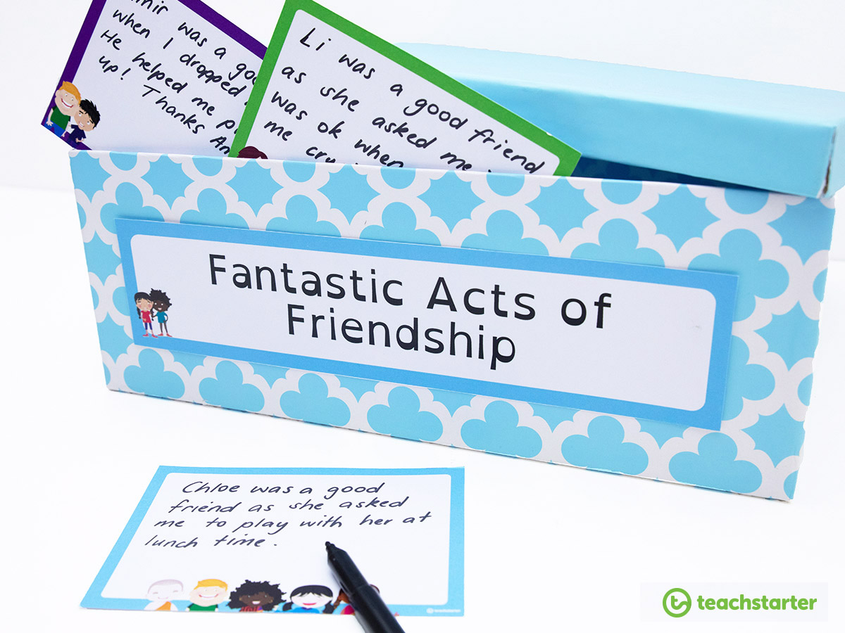 Teaching Friendship | Banish Bullying in the Classroom - Fantastic Acts of Friendship Box