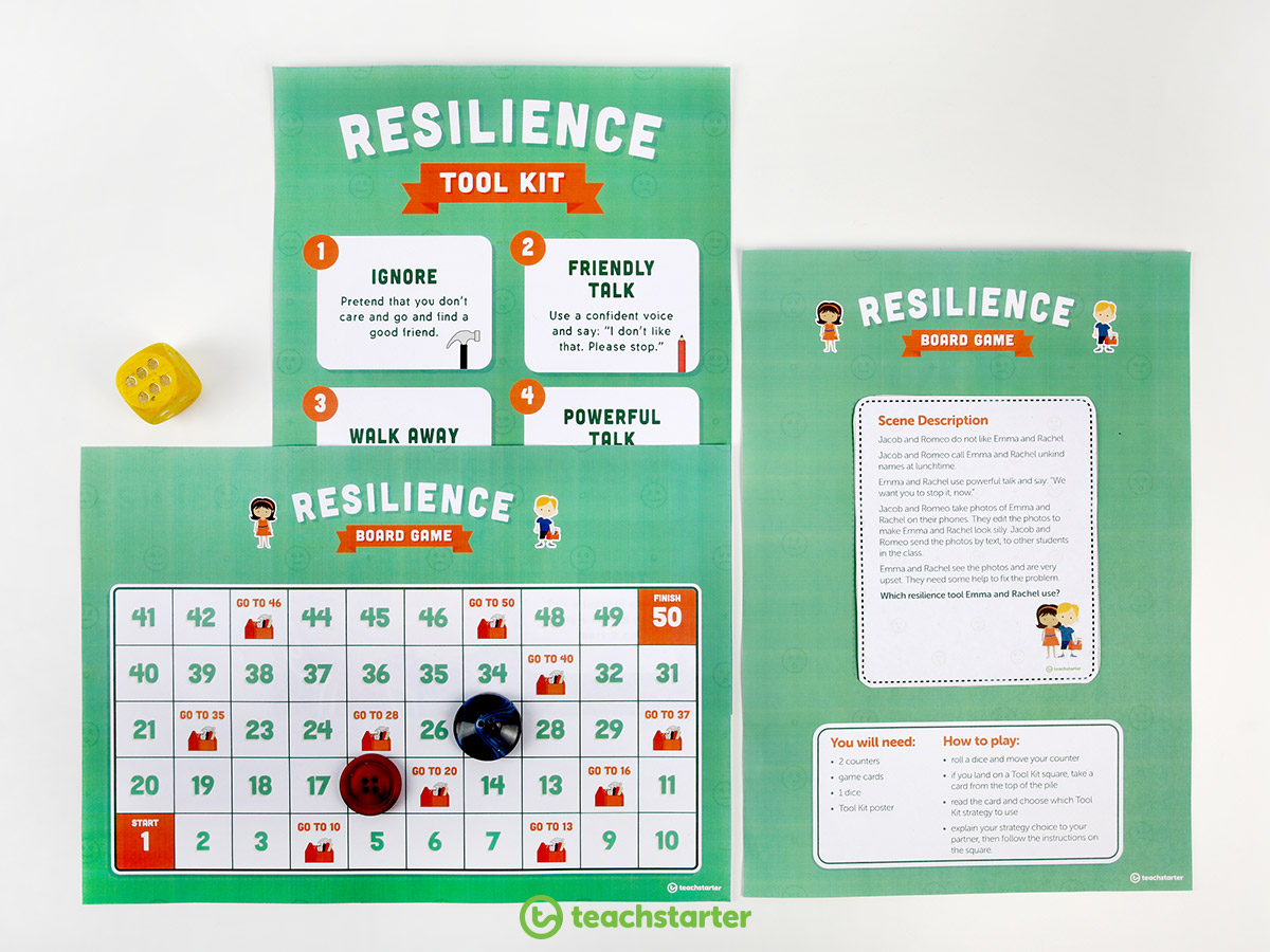 Teaching Friendship to Banish Bullying in the Classroom - play a resilience boardgame to explore how to stand up to bullies