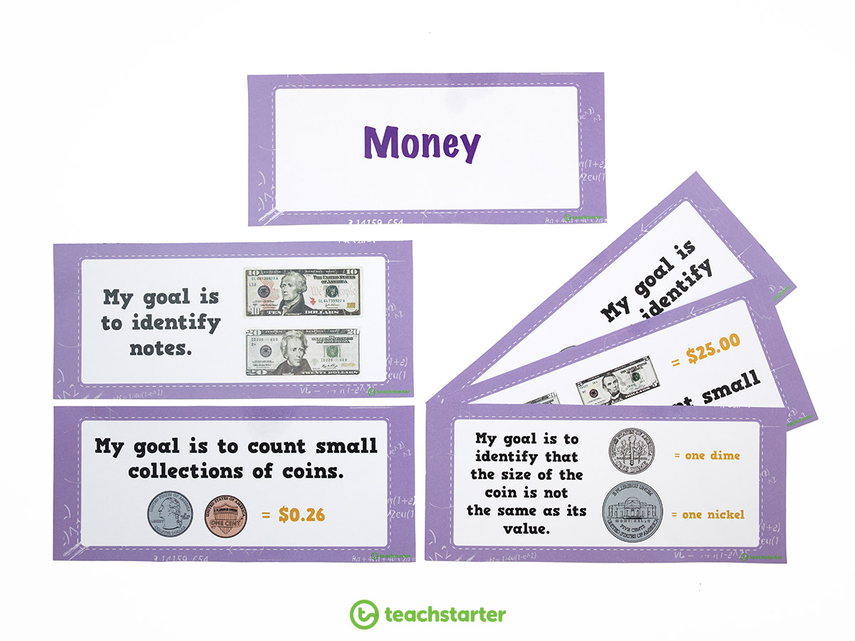 Teaching Money and Financial Mathematics - Set your students goals
