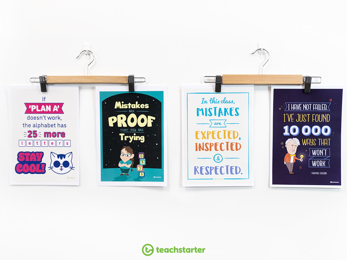Create a classroom display using our positivity posters.