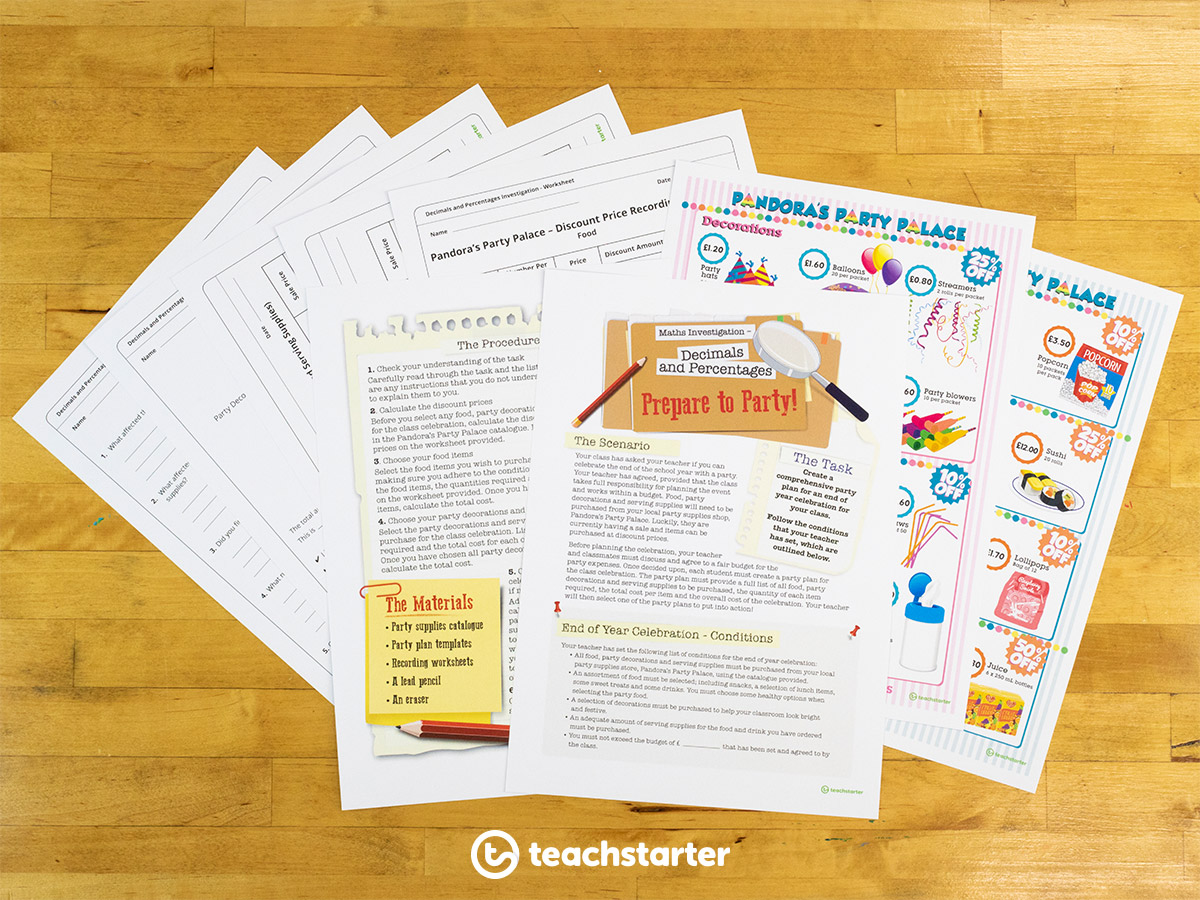 Teaching Money and Financial Mathematics - Complete a Money and Financial Mathematics Math Investigation with Your Class!