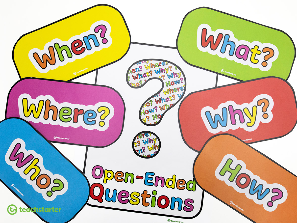 Use question starter flashcards to encourage students to ask questions in the classroom.