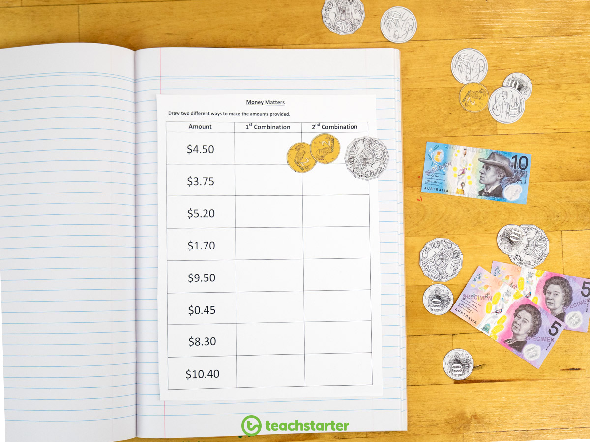Teaching Money and financial mathematics - Use Manipulatives to help your students understand tricky maths concepts
