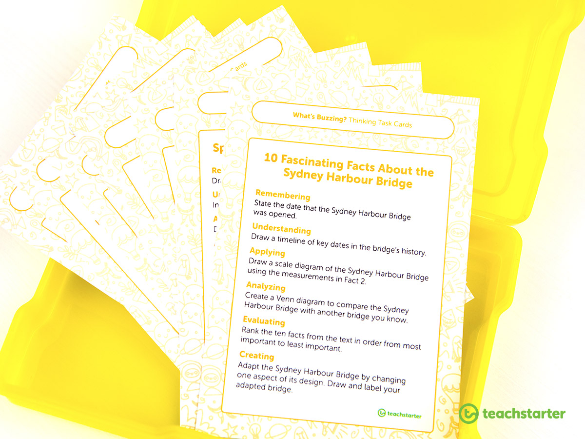 Make your life easy with these higher-order thinking task cards.