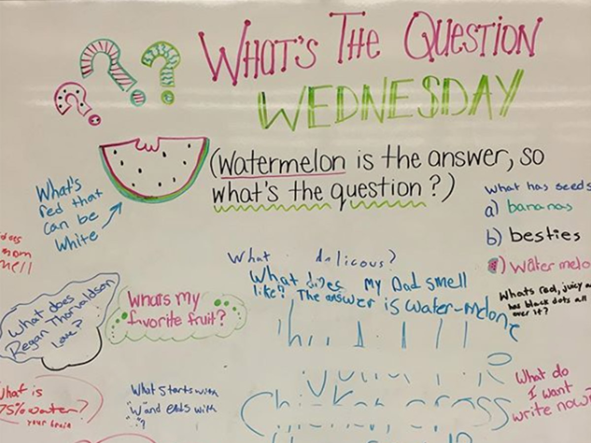 What's the question... activity idea for the classroom.