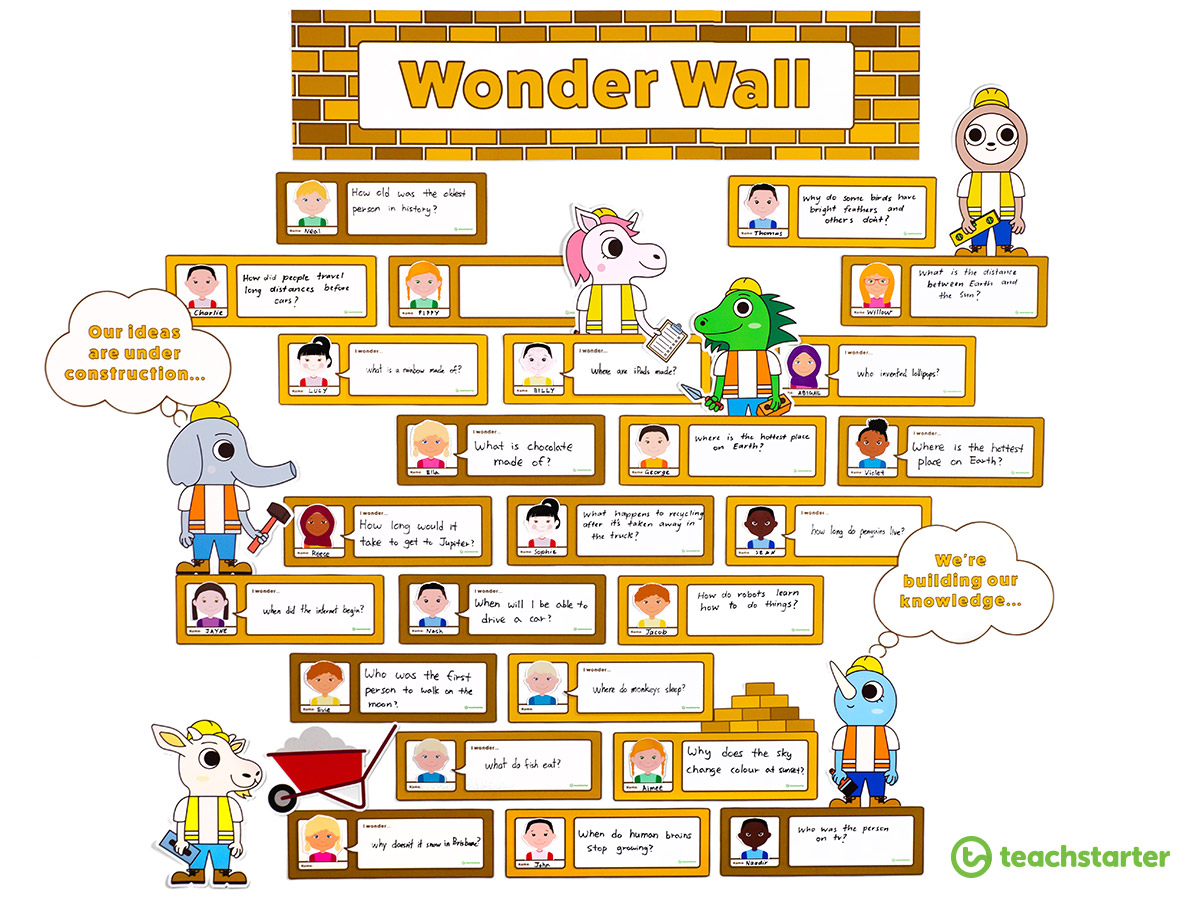 Use a wonder wall to encourage curiosity in your students.