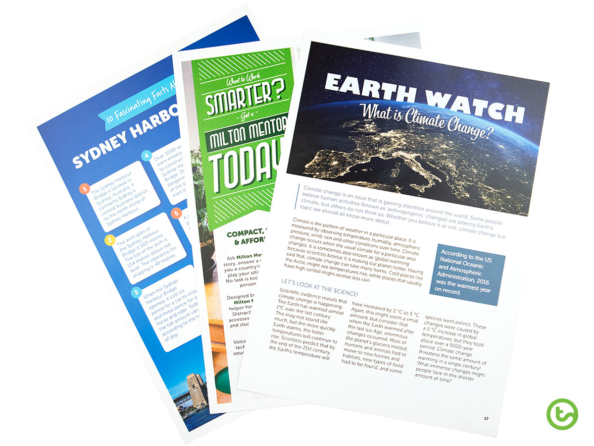 Check out the wide variety of text types in our FREE magazine.