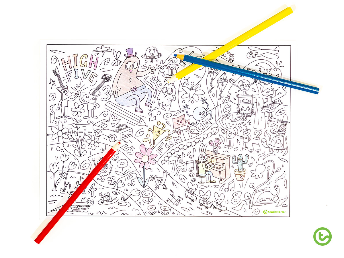 Meet the Designer - Clayton McIntosh and his giant colouring sheet