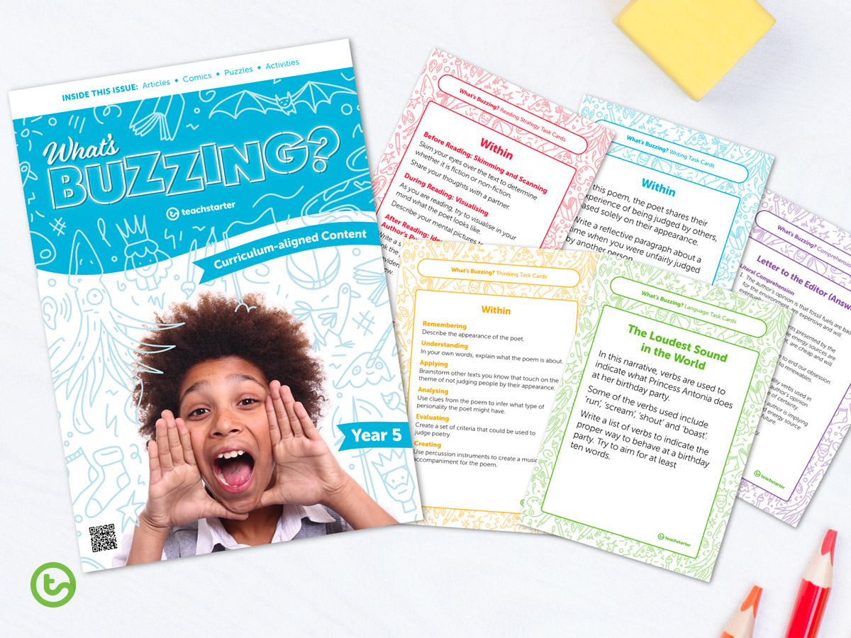 Use our magazine for students in conjunction with these task cards.
