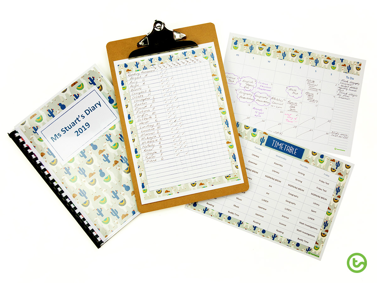 The Llama and Cactus Classroom Theme Pack - it has everything you need for planning and organisation!