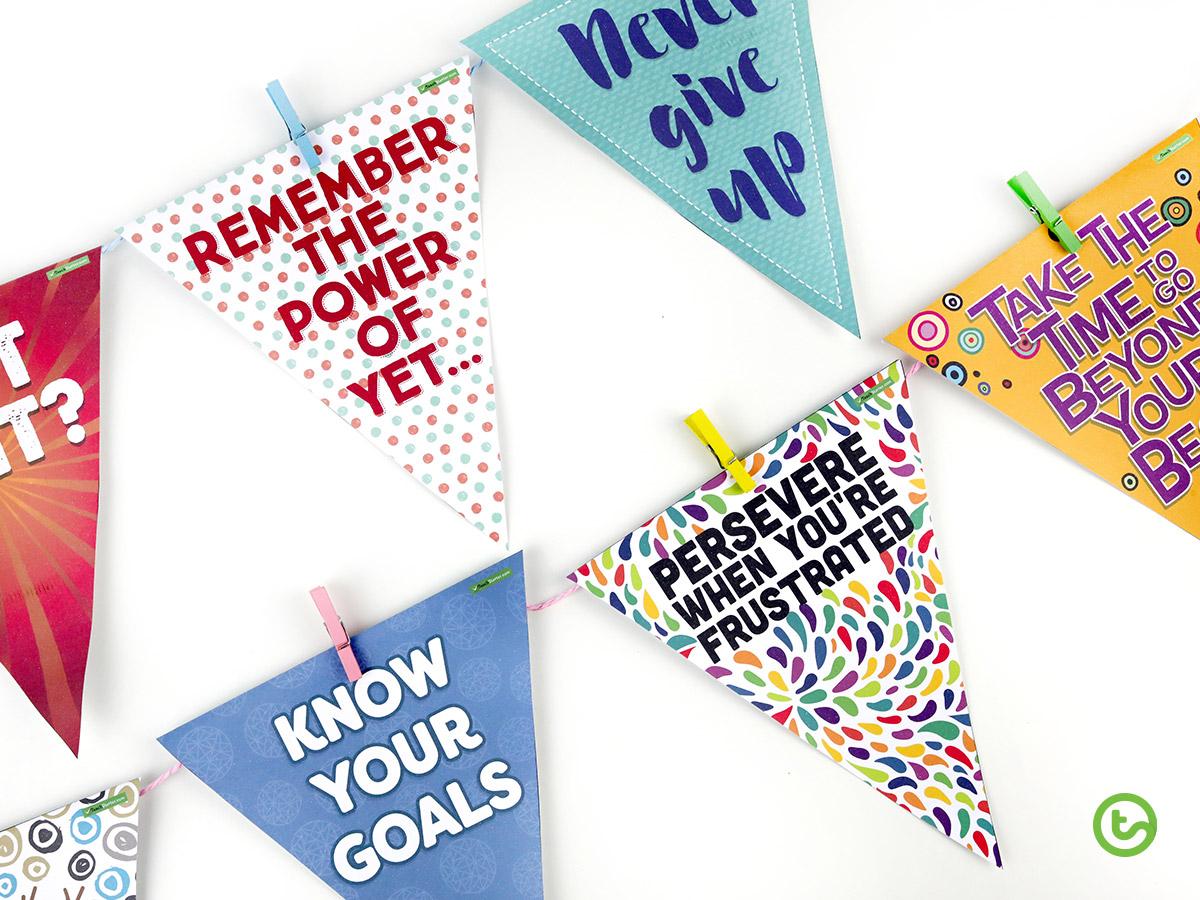 Printable classroom pennants.
