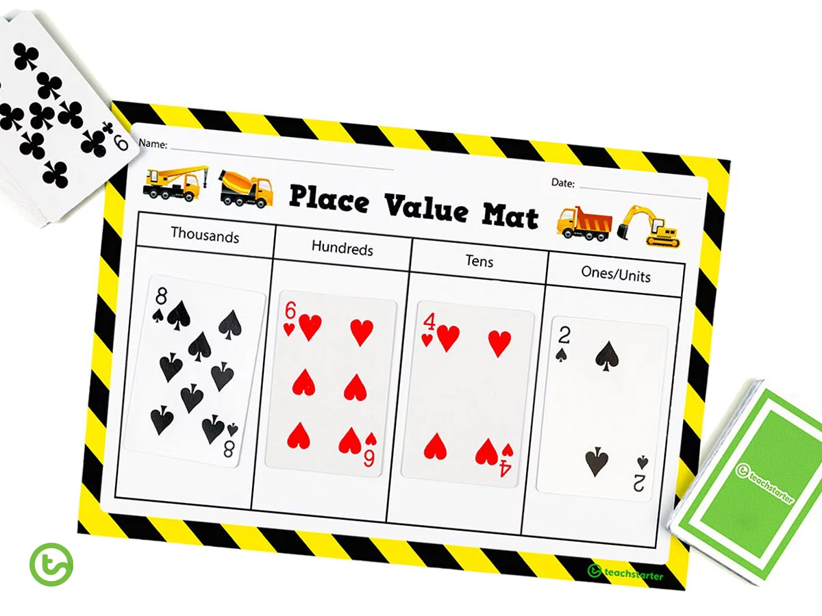 Printable place value mat.