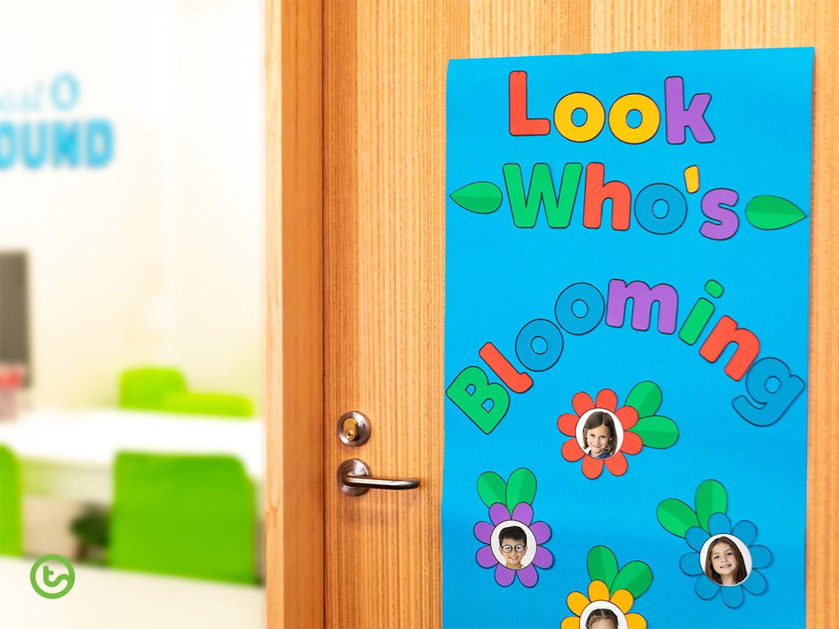 12 Fun and Fresh Spring Activities for Kids - Flower Door display