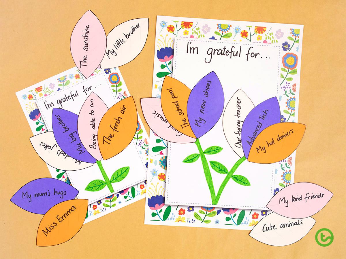 Spring Activities for Kids - Gratitude Flowers